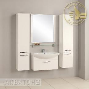 Комплект мебели Акватон Ария 80 белый подвесной