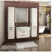 Комплект мебели Акватон Ария 80 М белый подвесной купить в Москве по цене от 22293р. в интернет-магазине mebel-v-vannu.ru