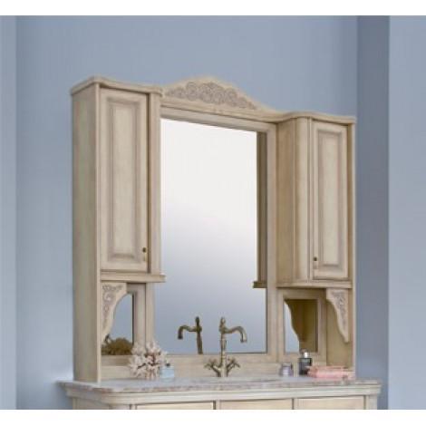 Зеркало-шкаф Аллигатор Классик 125 на столешнице купить в Москве по цене от 51300р. в интернет-магазине mebel-v-vannu.ru
