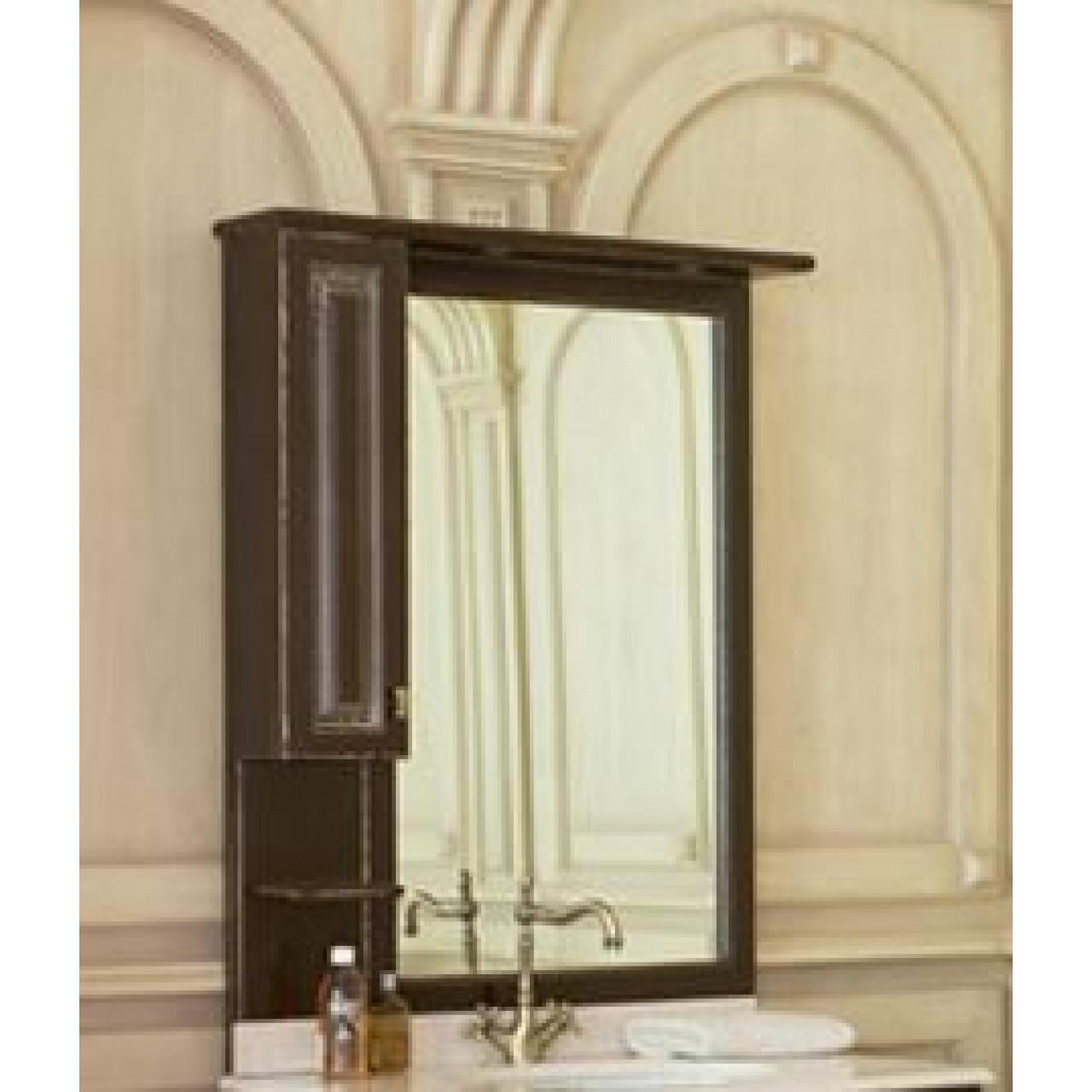 Зеркало-шкаф Аллигатор Капан F(D) 90 купить в Москве по цене от 30000р. в интернет-магазине mebel-v-vannu.ru