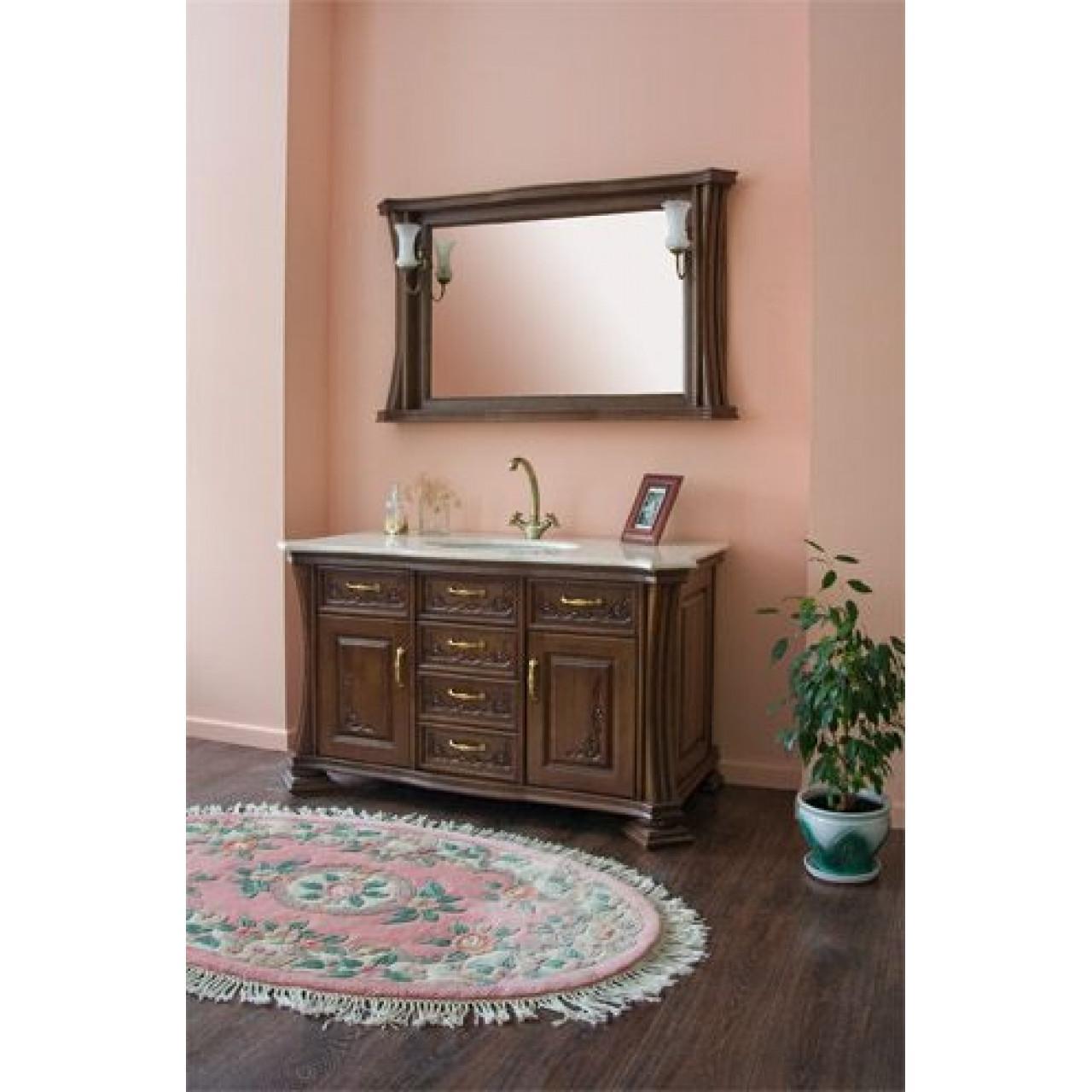 Комплект мебели Аллигатор Классик 125B зеркало в раме купить в Москве по цене от 149600р. в интернет-магазине mebel-v-vannu.ru