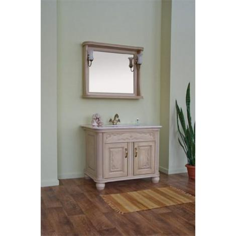 Комплект мебели Аллигатор Классик 100A зеркало в раме купить в Москве по цене от 123800р. в интернет-магазине mebel-v-vannu.ru