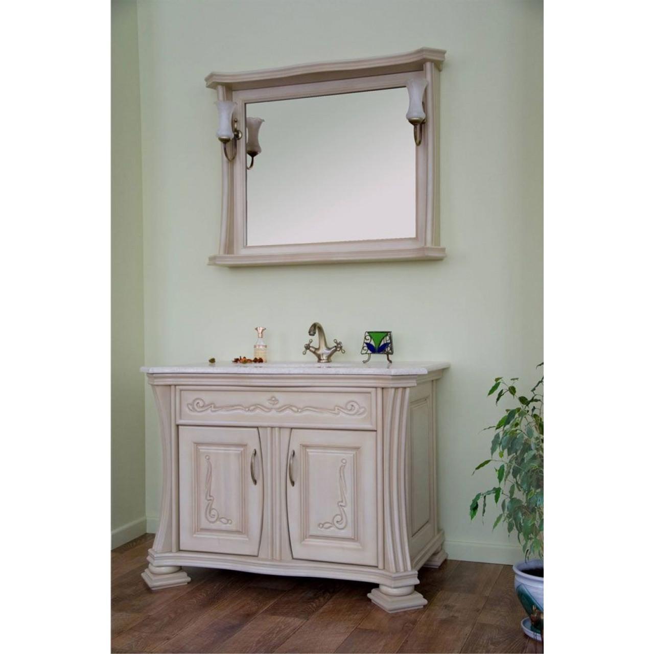Комплект мебели Аллигатор Классик 100B зеркало в раме купить в Москве по цене от 123800р. в интернет-магазине mebel-v-vannu.ru