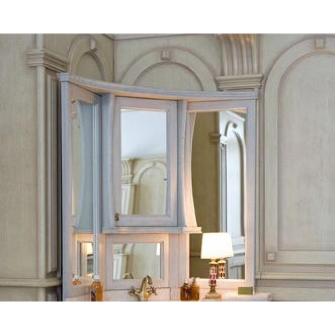 Зеркало-шкаф Аллигатор Классик 125 на столешнице угловое купить в Москве по цене от 38400р. в интернет-магазине mebel-v-vannu.ru