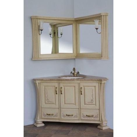 Комплект мебели Аллигатор Классик 125A зеркало в раме угловой купить в Москве по цене от 175500р. в интернет-магазине mebel-v-vannu.ru