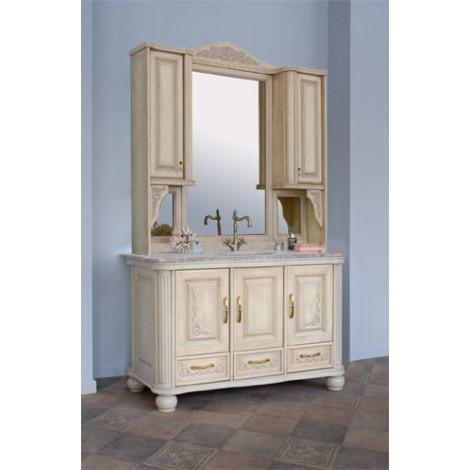 Комплект мебели Аллигатор Классик 125С зеркало на столешнице купить в Москве по цене от 183600р. в интернет-магазине mebel-v-vannu.ru
