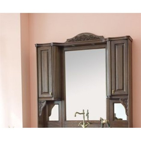 Зеркало-шкаф Аллигатор Классик 140 на столешнице купить в Москве по цене от 57500р. в интернет-магазине mebel-v-vannu.ru