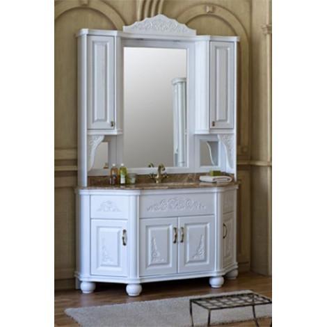 Комплект мебели Аллигатор Классик 140A зеркало на столешнице купить в Москве по цене от 205200р. в интернет-магазине mebel-v-vannu.ru