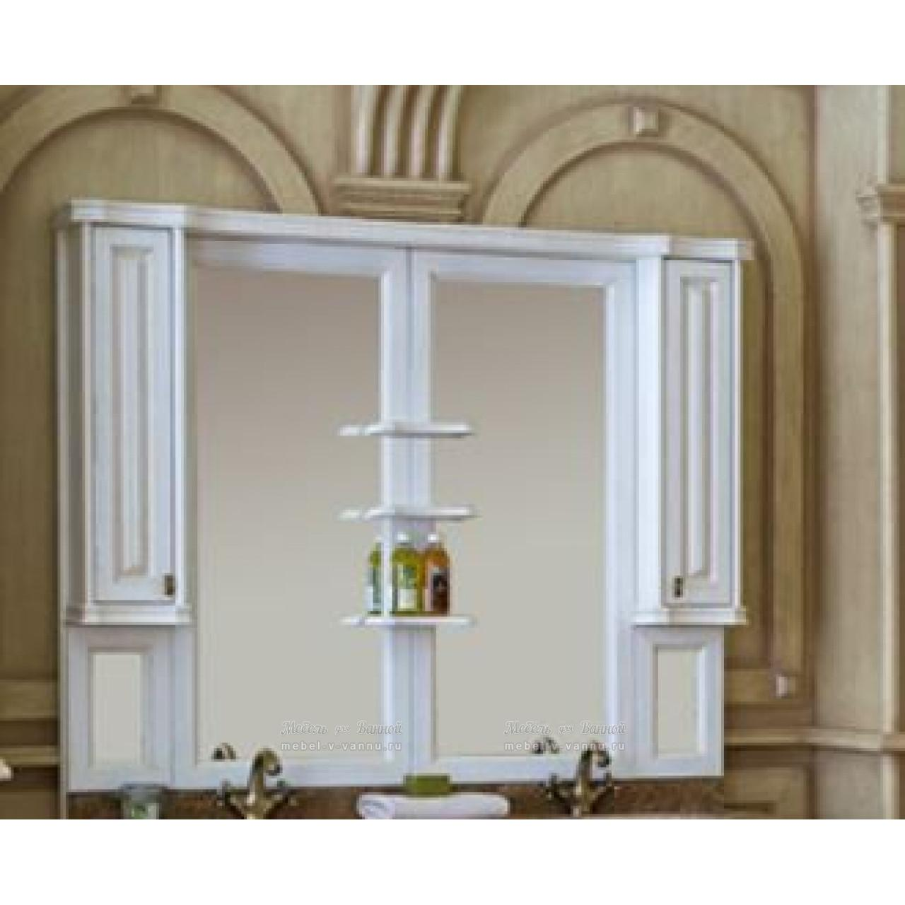 Зеркало-шкаф Аллигатор Классик 160 на столешнице купить в Москве по цене от 65900р. в интернет-магазине mebel-v-vannu.ru