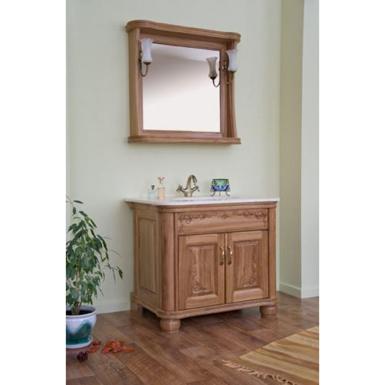Комплект мебели Аллигатор Классик 90A зеркало в раме купить в Москве по цене от 92100р. в интернет-магазине mebel-v-vannu.ru