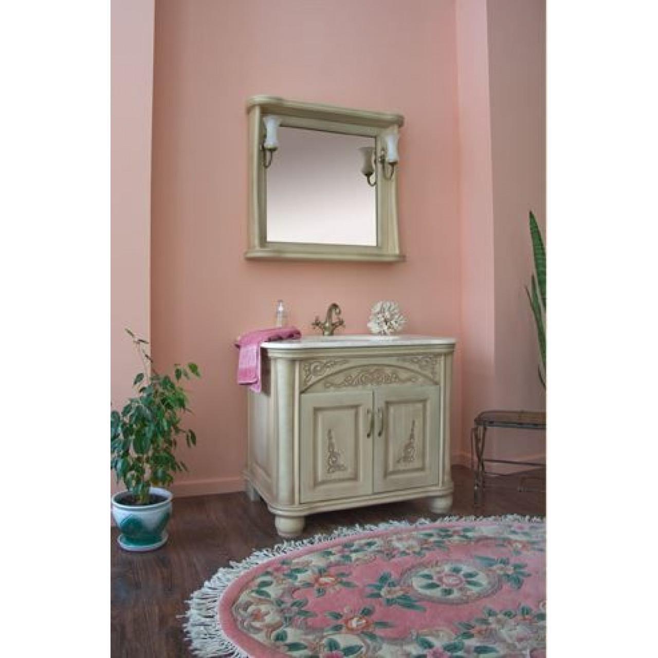 Комплект мебели Аллигатор Классик 90B зеркало в раме купить в Москве по цене от 92100р. в интернет-магазине mebel-v-vannu.ru