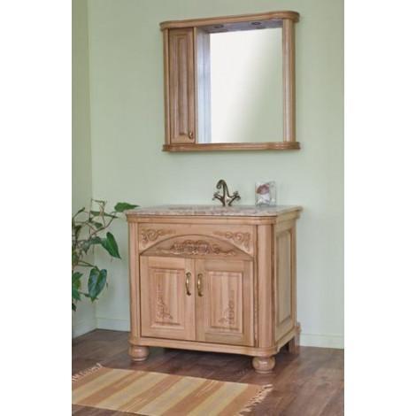 Комплект мебели Аллигатор Классик 90B зеркало со шкафчиком купить в Москве по цене от 106700р. в интернет-магазине mebel-v-vannu.ru
