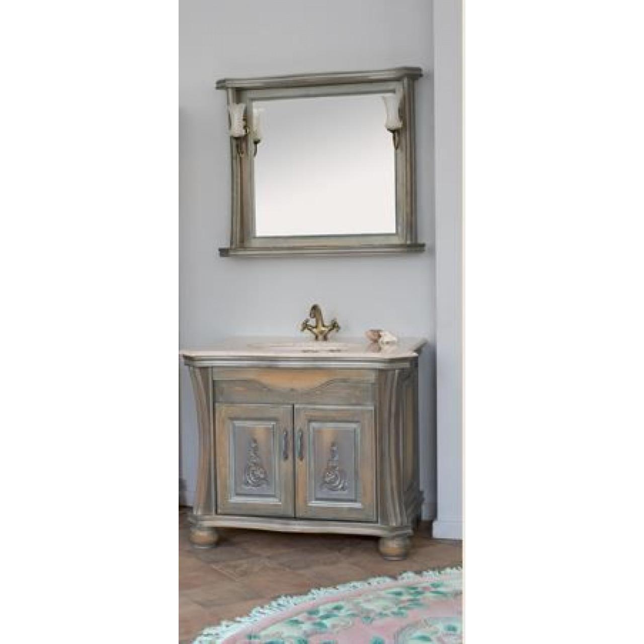 Комплект мебели Аллигатор Классик 90P зеркало в раме купить в Москве по цене от 97500р. в интернет-магазине mebel-v-vannu.ru
