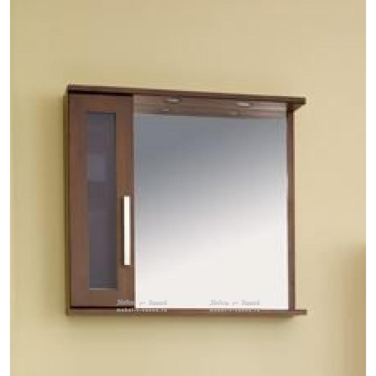 Зеркало-шкаф Аллигатор Поло 80A купить в Москве по цене от 8600р. в интернет-магазине mebel-v-vannu.ru