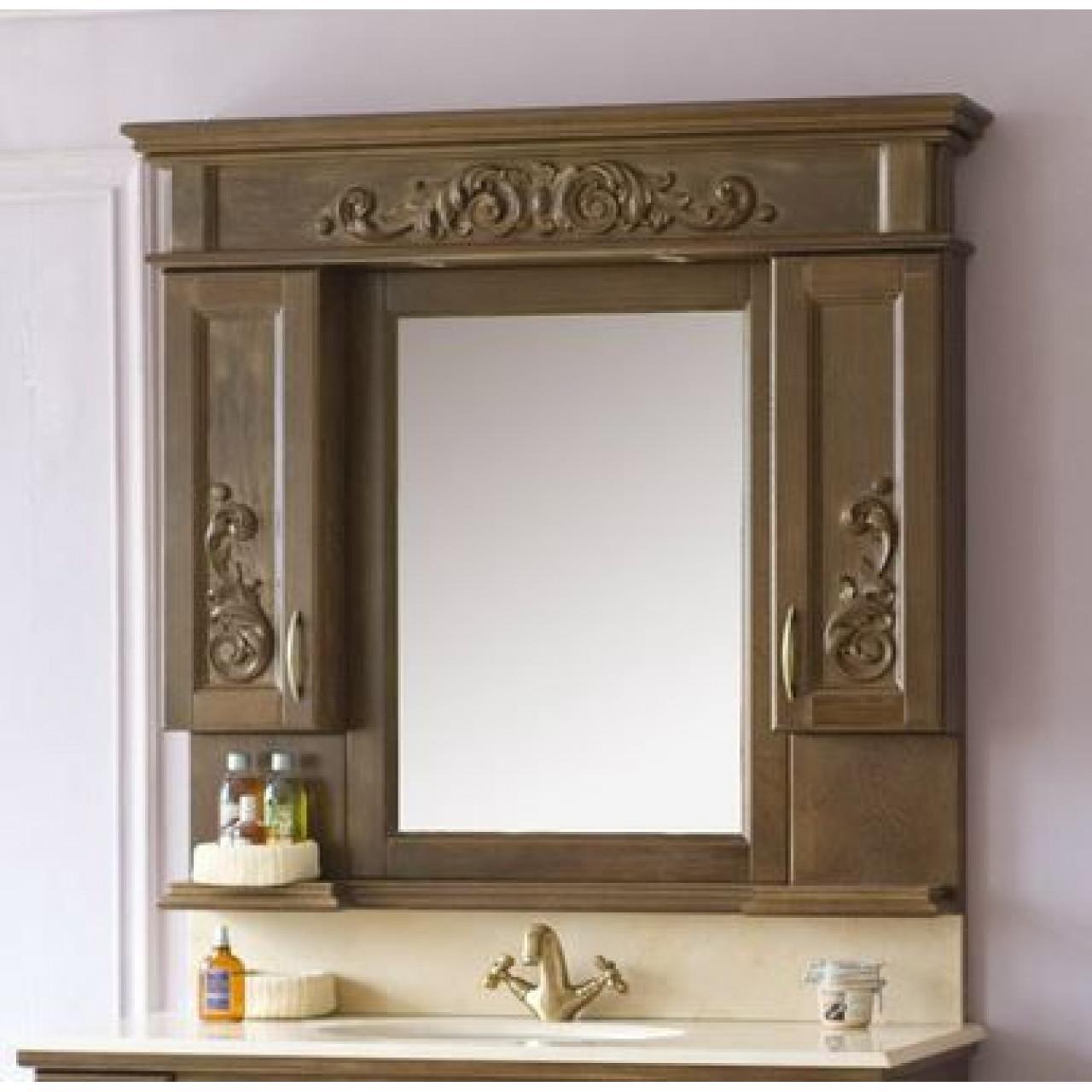 Зеркало-шкаф Аллигатор Вито 120R (D) купить в Москве по цене от 51300р. в интернет-магазине mebel-v-vannu.ru