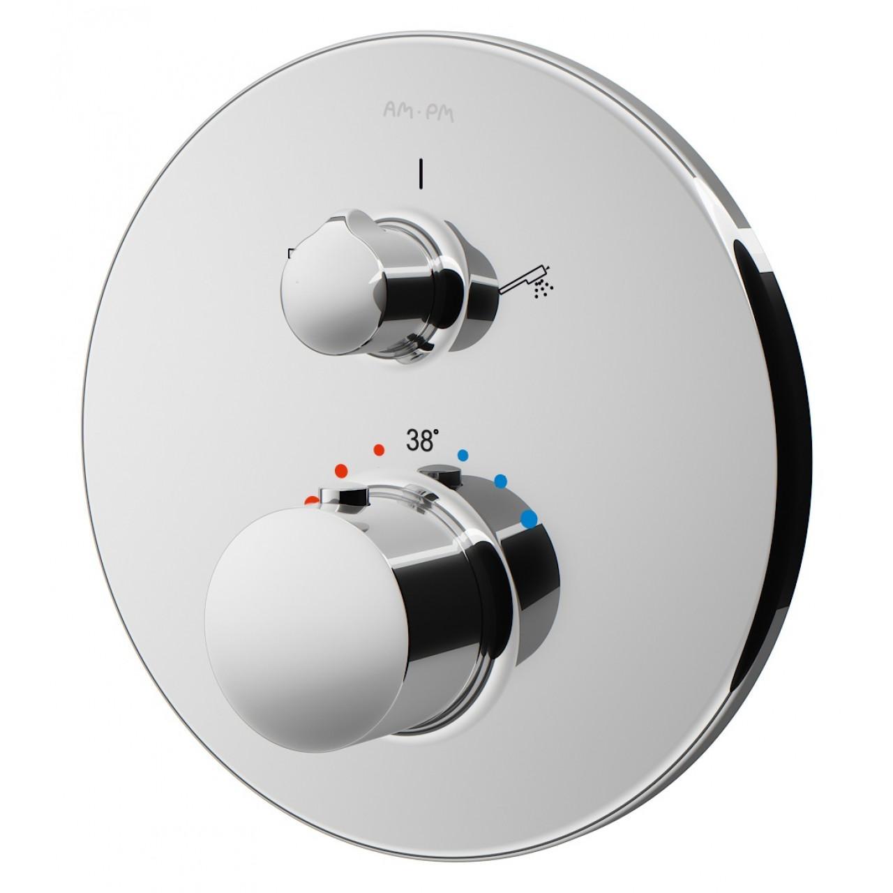 Термостат Am.Pm Like F8075500 для душем купить в Москве по цене от 24690р. в интернет-магазине mebel-v-vannu.ru