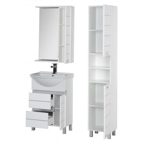 Комплект мебели Aquanet Доминика 60 белая купить в Москве по цене от 27539р. в интернет-магазине mebel-v-vannu.ru