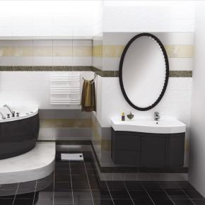 Комплект мебели Aquanet Сопрано 95 черная, прав.