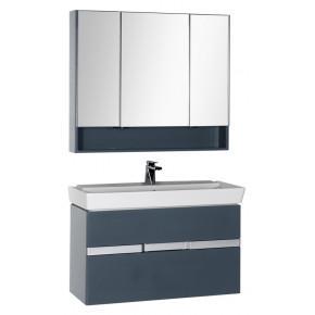 Комплект мебели Aquanet Виго 100 сине-серая