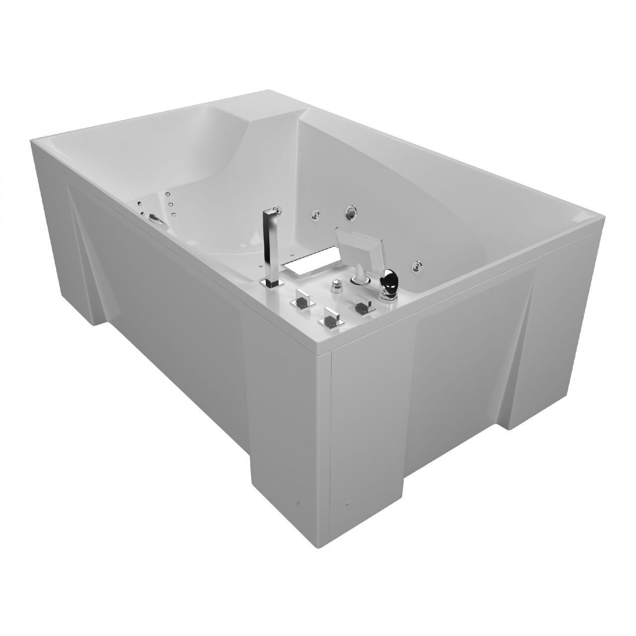 Акриловая ванна Акватика Архитектура 3D 190x120х74 купить в Москве по цене от 211404р. в интернет-магазине mebel-v-vannu.ru