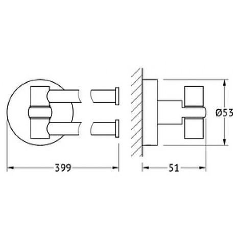 Полотенцедержатель Artwelle Harmonie HAR 023 40 см купить в Москве по цене от 2511р. в интернет-магазине mebel-v-vannu.ru