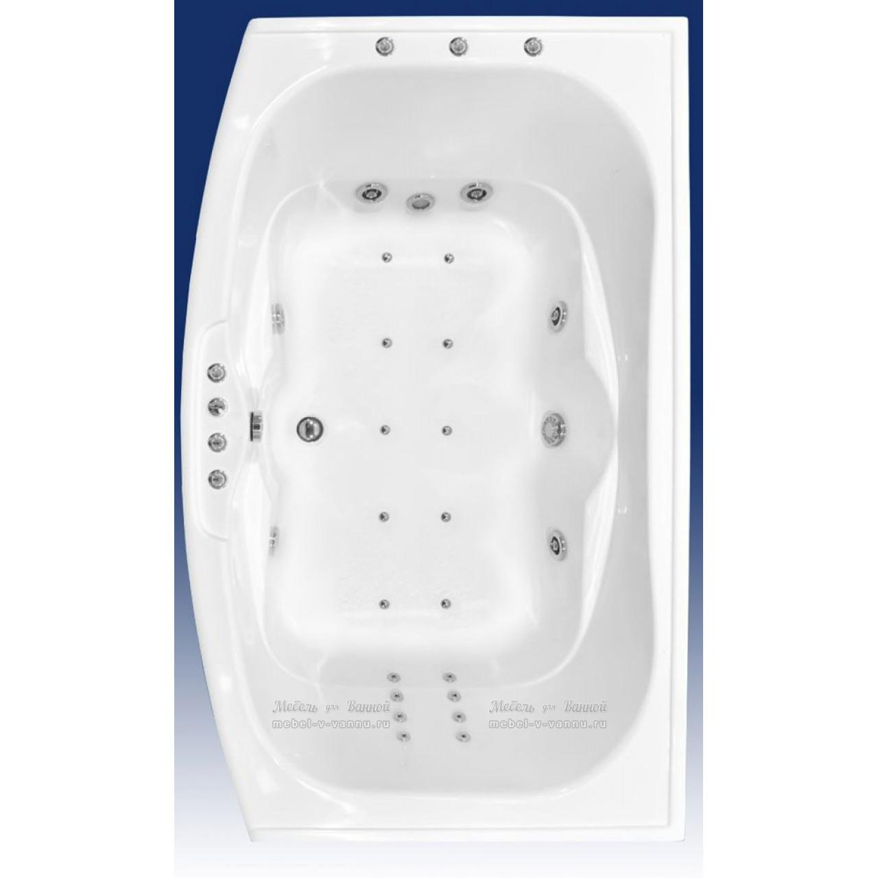 Акриловая ванна Bach Джени 190х109 купить в Москве по цене от 23200р. в интернет-магазине mebel-v-vannu.ru