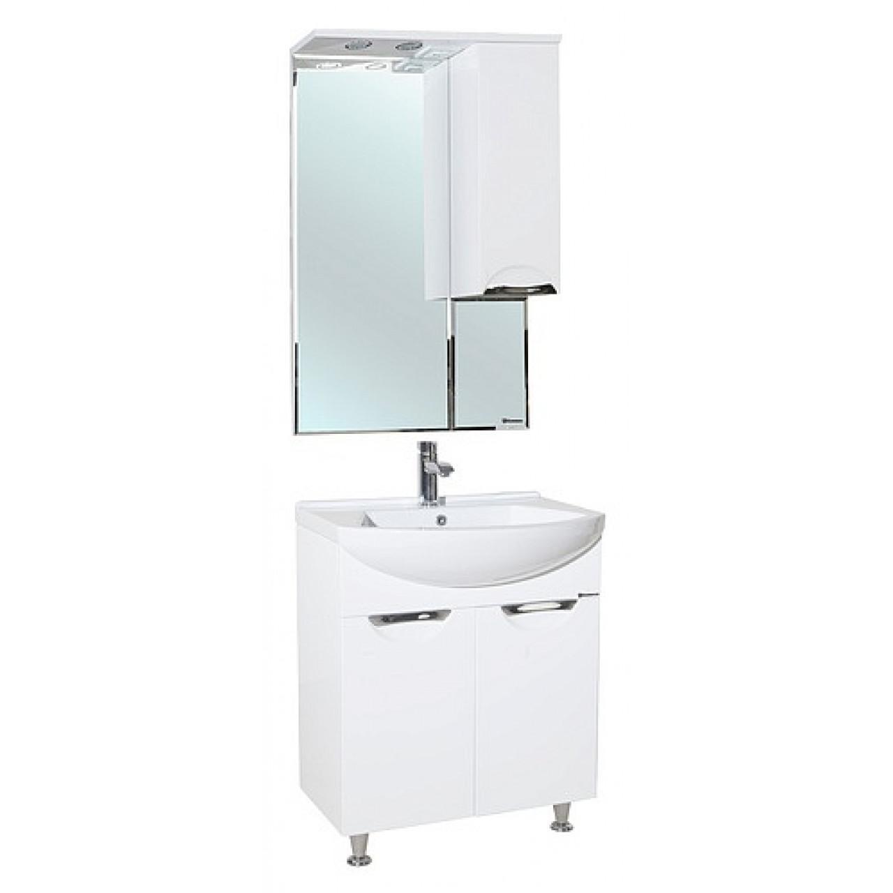 Комплект мебели Bellezza Альфа 55 белая купить в Москве по цене от 12750р. в интернет-магазине mebel-v-vannu.ru