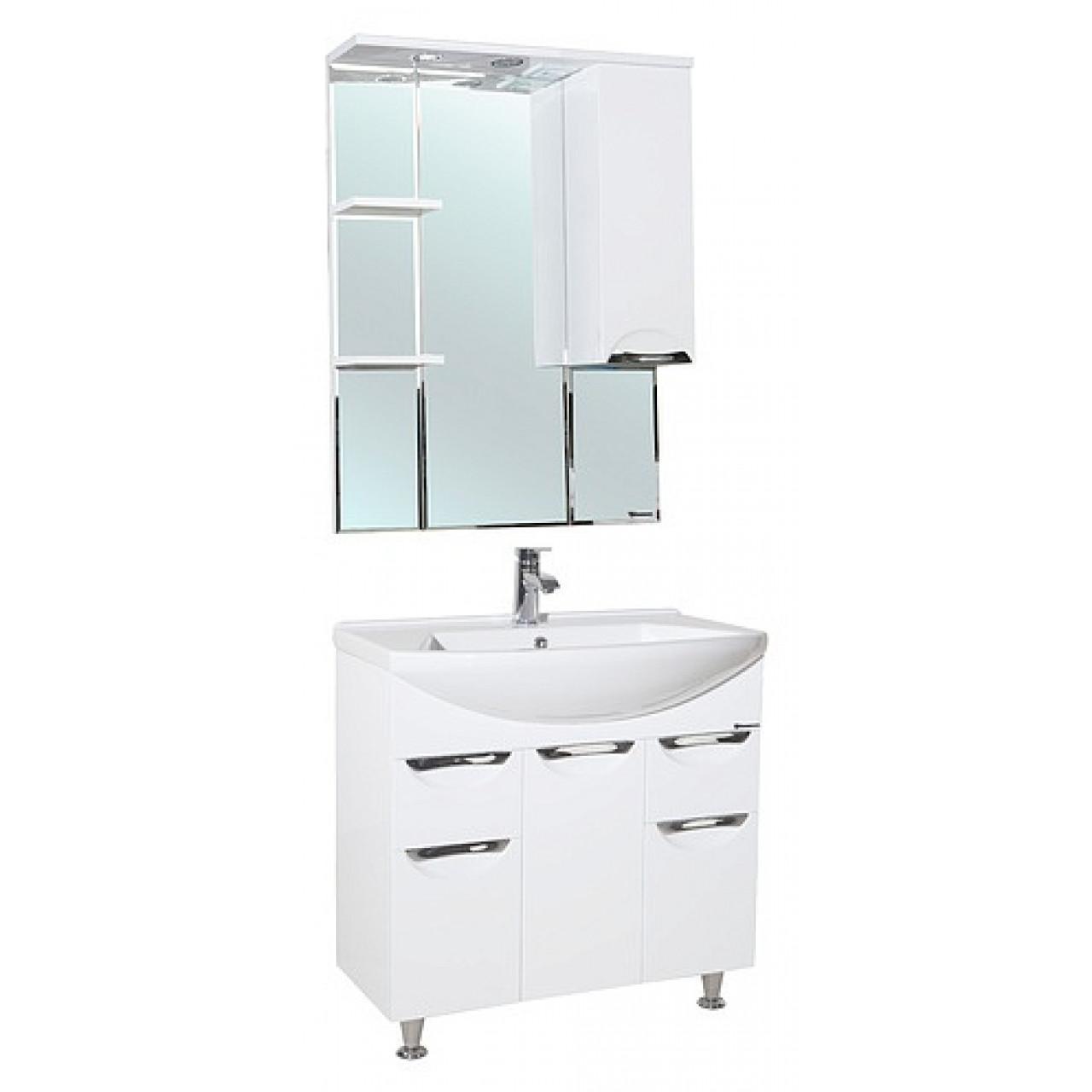 Комплект мебели Bellezza Альфа 75 белая купить в Москве по цене от 16884р. в интернет-магазине mebel-v-vannu.ru