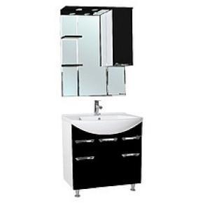 Комплект мебели Bellezza Альфа 75 (черный, бежевый, красный)