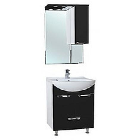 Комплект мебели Bellezza Альфа 55 (черный, красный, бежевый) с нижним ящиком купить в Москве по цене от 12841р. в интернет-магазине mebel-v-vannu.ru