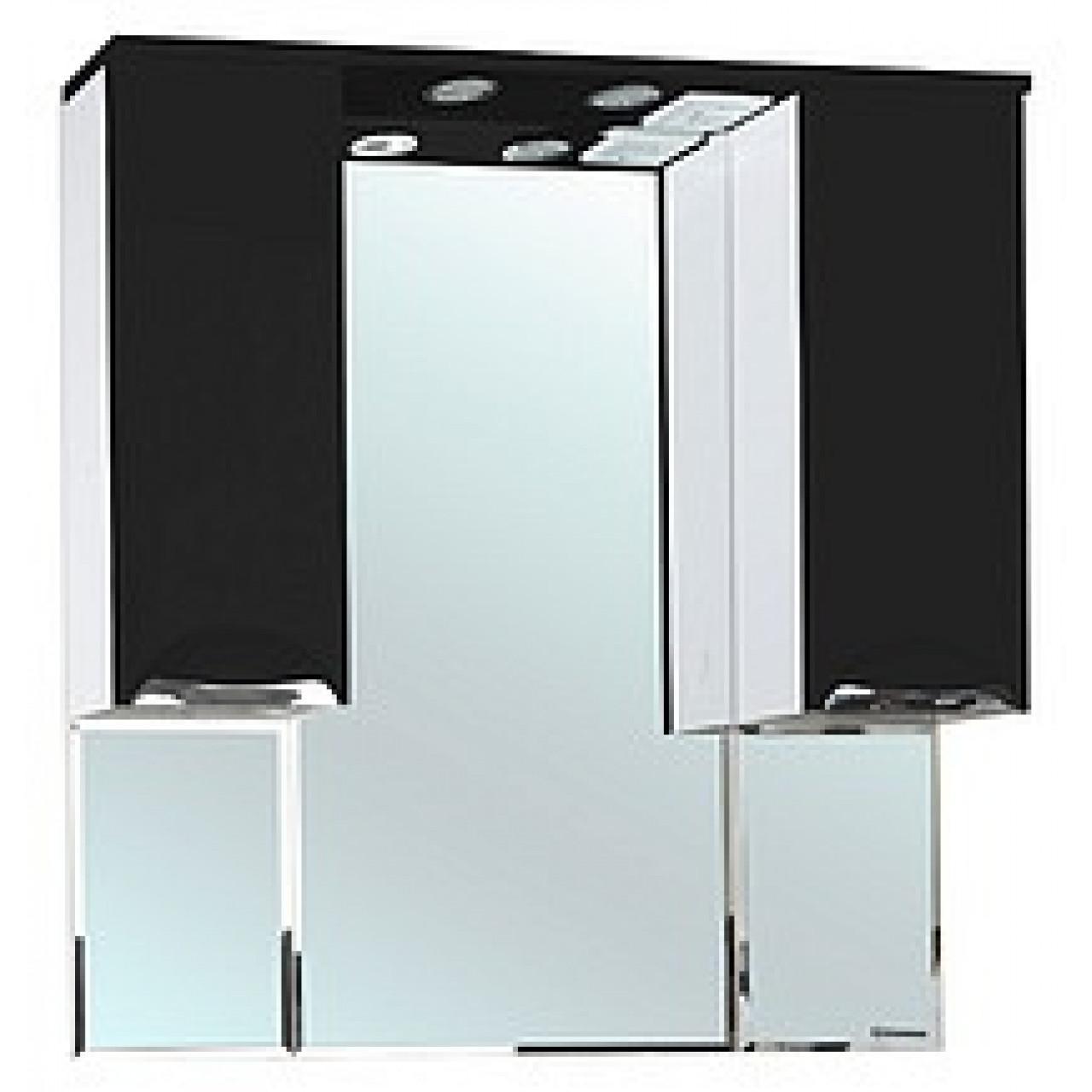 Зеркало-шкаф Bellezza Альфа 90 (черный, красный, бежевый) купить в Москве по цене от 9090р. в интернет-магазине mebel-v-vannu.ru