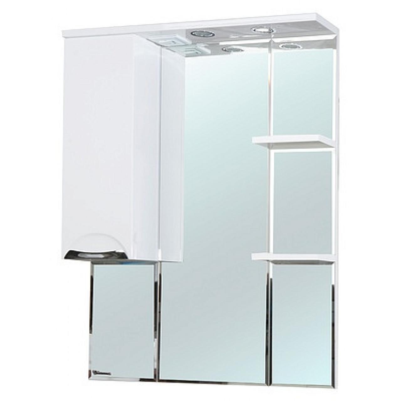 Зеркало-шкаф Bellezza Альфа 75 белый купить в Москве по цене от 7379р. в интернет-магазине mebel-v-vannu.ru