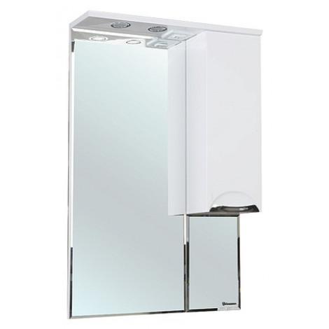 Зеркало-шкаф Bellezza Альфа 55 белый купить в Москве по цене от 5330р. в интернет-магазине mebel-v-vannu.ru