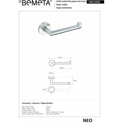 Держатель туалетной бумаги BEMETA NEO 104212035 купить в Москве по цене от 1652р. в интернет-магазине mebel-v-vannu.ru