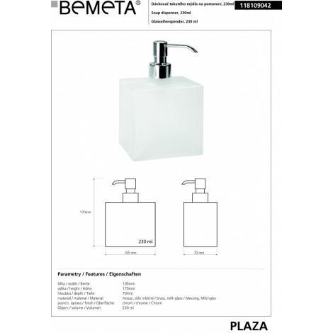 Диспенсер мыла BEMETA PLAZA 118109042 купить в Москве по цене от 2599р. в интернет-магазине mebel-v-vannu.ru