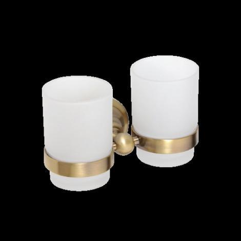 Двойной держатель стаканов BEMETA RETRO 144110027 Бронза купить в Москве по цене от 2901р. в интернет-магазине mebel-v-vannu.ru