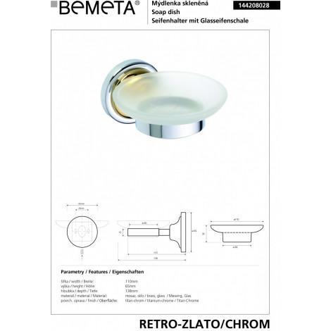 Мыльница стеклянная BEMETA RETRO 144208028 Хром-золото купить в Москве по цене от 1675р. в интернет-магазине mebel-v-vannu.ru