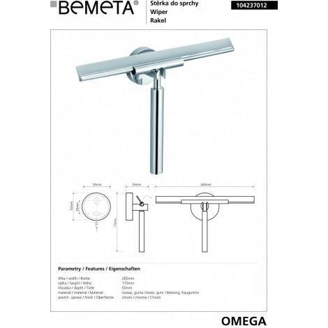 Cкребок для душевой кабины BEMETA OMEGA 104237012 купить в Москве по цене от 1652р. в интернет-магазине mebel-v-vannu.ru