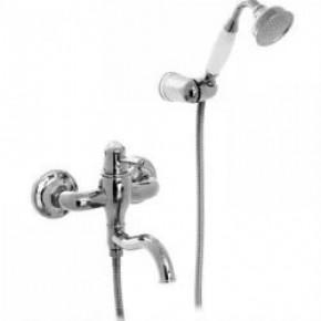 Смеситель Bennberg 13R0717 для ванны с душем хром/черный кристалл
