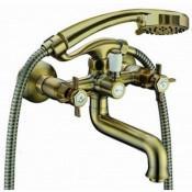 Смеситель Bennberg 521222 для ванны с душем бронза купить в Москве по цене от 8120р. в интернет-магазине mebel-v-vannu.ru
