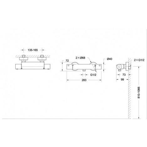 Термостат Bravat Stream F93984C-01B для душа купить в Москве по цене от 7839р. в интернет-магазине mebel-v-vannu.ru