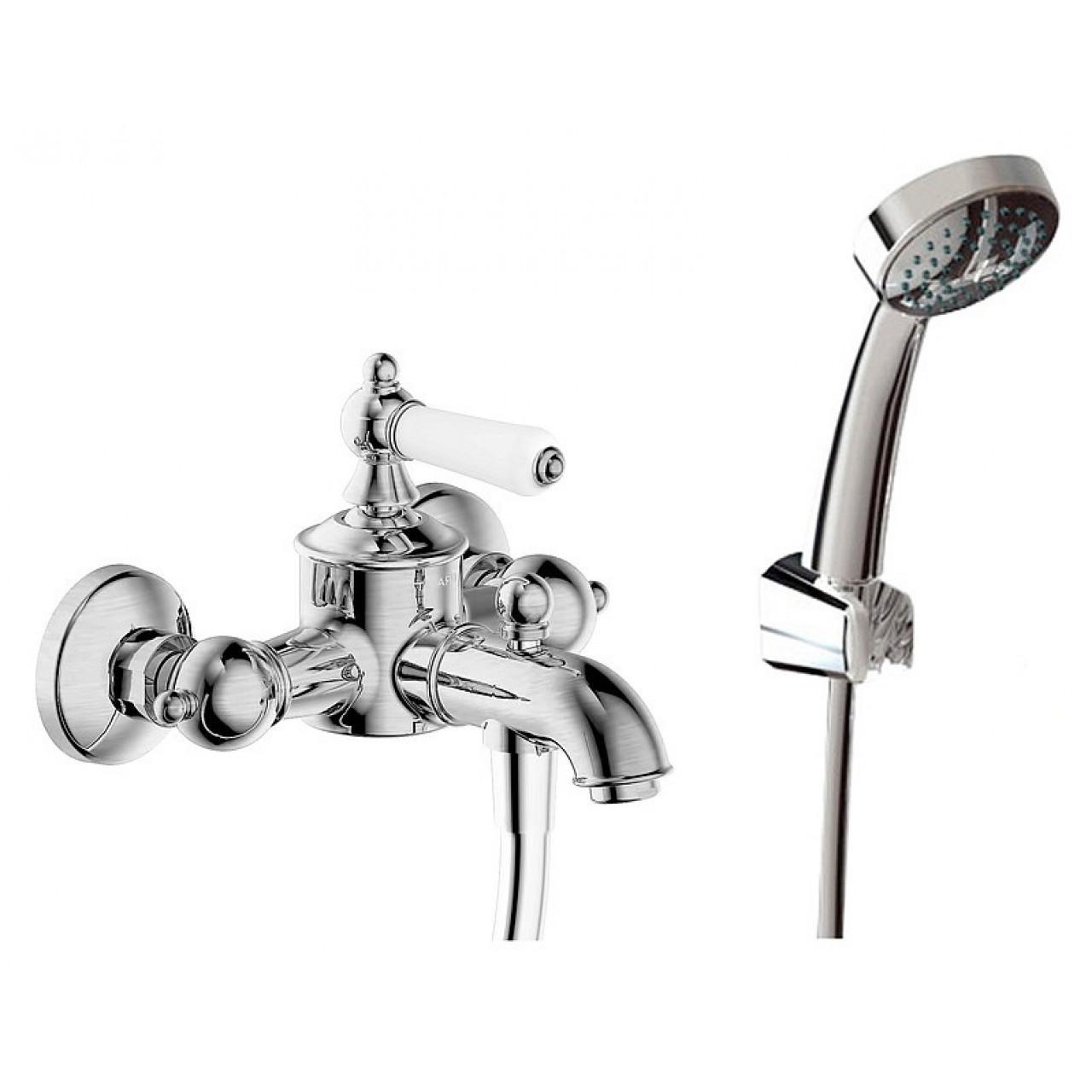Смеситель Bravat Art F675109C-B для ванны с душем купить в Москве по цене от 9209р. в интернет-магазине mebel-v-vannu.ru