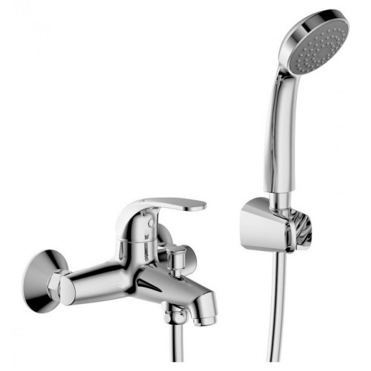 Смеситель Bravat Fit 7F6135188CP-B-RUS для ванны с душем купить в Москве по цене от 4462р. в интернет-магазине mebel-v-vannu.ru