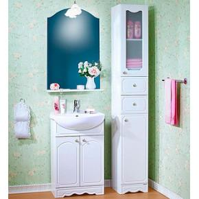 Комплект мебели Бриклаер Лючия 55 белый глянец