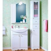Комплект мебели Бриклаер Лючия 70 белый глянец купить в Москве по цене от 14969р. в интернет-магазине mebel-v-vannu.ru