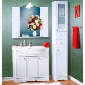 Комплект мебели Бриклаер Лючия 90 белый глянец купить в Москве по цене от 18168р. в интернет-магазине mebel-v-vannu.ru