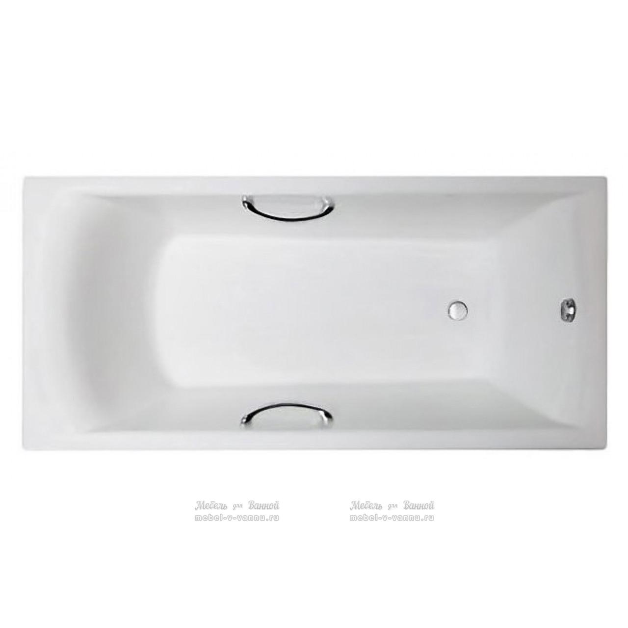 Чугунная ванна Castalia Prime 1800х800х480 с хром ручками купить в Москве по цене от 42100р. в интернет-магазине mebel-v-vannu.ru