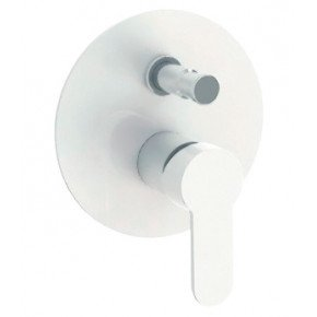 Смеситель Cezares Laconico C VDI BLC для ванны с душем, белый