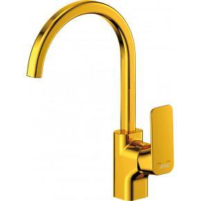 Смеситель D&K Berlin Touro DA1432403 для кухонной мойки, золото