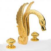 Смеситель Effepi CRYSTAL 23037-DO для раковины золото купить в Москве по цене от 106200р. в интернет-магазине mebel-v-vannu.ru